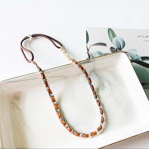 🍀🍀Henri Bendel Leather Hairband/ Necklace